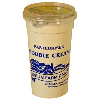 Wells Farm Double Cream (284mL)