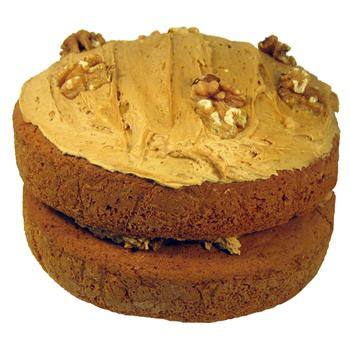 "Ken & Pam's Homemade 7"" Coffee & Walnut Sponge"