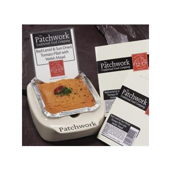 Patchwork Whole Pate - Red Lentil & Sundried Tomato (455g)