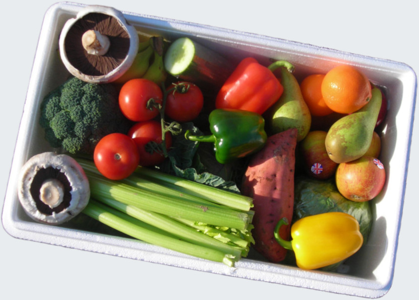 mixed vegetable and produce box
