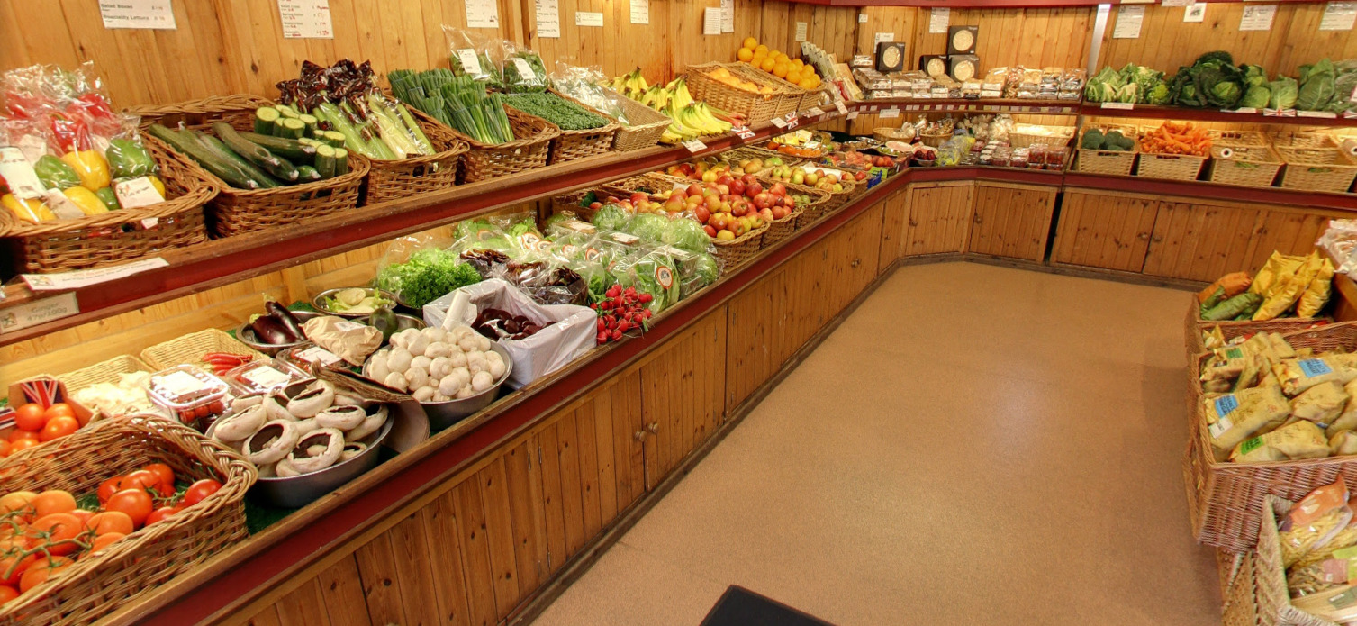 Inside Green Fields Farm Shop at Donnington